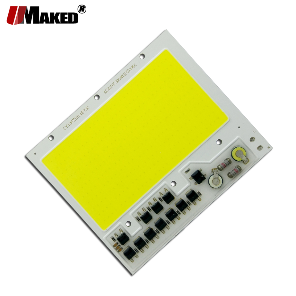 Image 4 - AC 220V LED COB 100W 136X115MM LED PCB Floodlight Module Aluminum plate White/Warm COB Chips Smart IC Driver For Spotlight Lamp-in Floodlights from Lights & Lighting