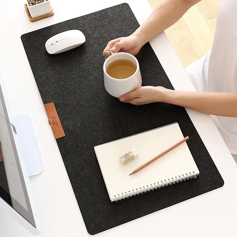 735*325mm Large Office Computer Desk Mat Modern Table Keyboard Mouse Pad  Non-slip Wool Felt Laptop Cushion Desk Mat Gamer Mat