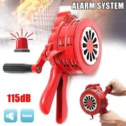 Ręczny korbowy sygnalizator bezpieczeństwa syreny pożarowej Alarm awaryjny ze stopu aluminium 231X202X115mm PUO88