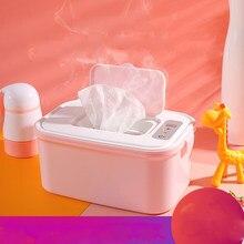 Novo bebê toalhetes aquecedores guardanapo termostato doméstico portátil molhado tecido caixa de aquecimento isolamento calor (anexar um plugue cn)