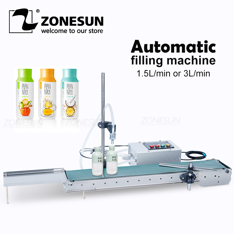 ZONESUN Automatic Electrical Liquid Filling Machine Bottle Water Filler Digital Pump For Perfume Drinking Beverage Juice Olive Food Processors  - AliExpress