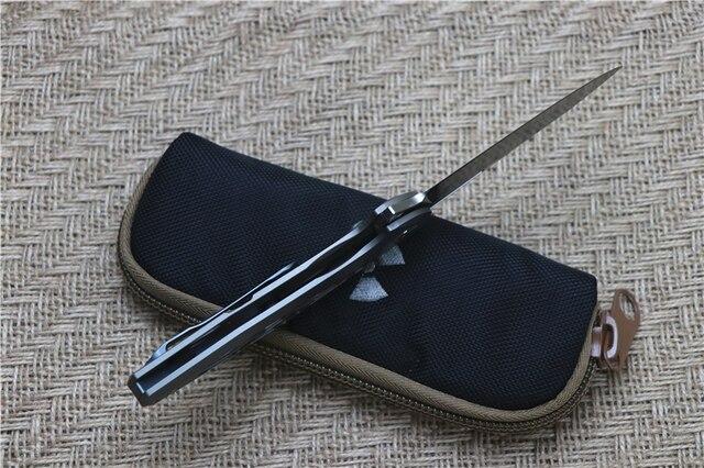 JK3214 couteau pliant à billes D2 lame TC4 poignée en titane camping en plein air multi-usages chasse EDC outil