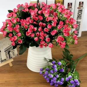 New 36 heads/Bunch Artificial Flowers 27cm Multicolor Home Decor Fake Peony Flowers for Home DIY Wedding Festive Party Supplies
