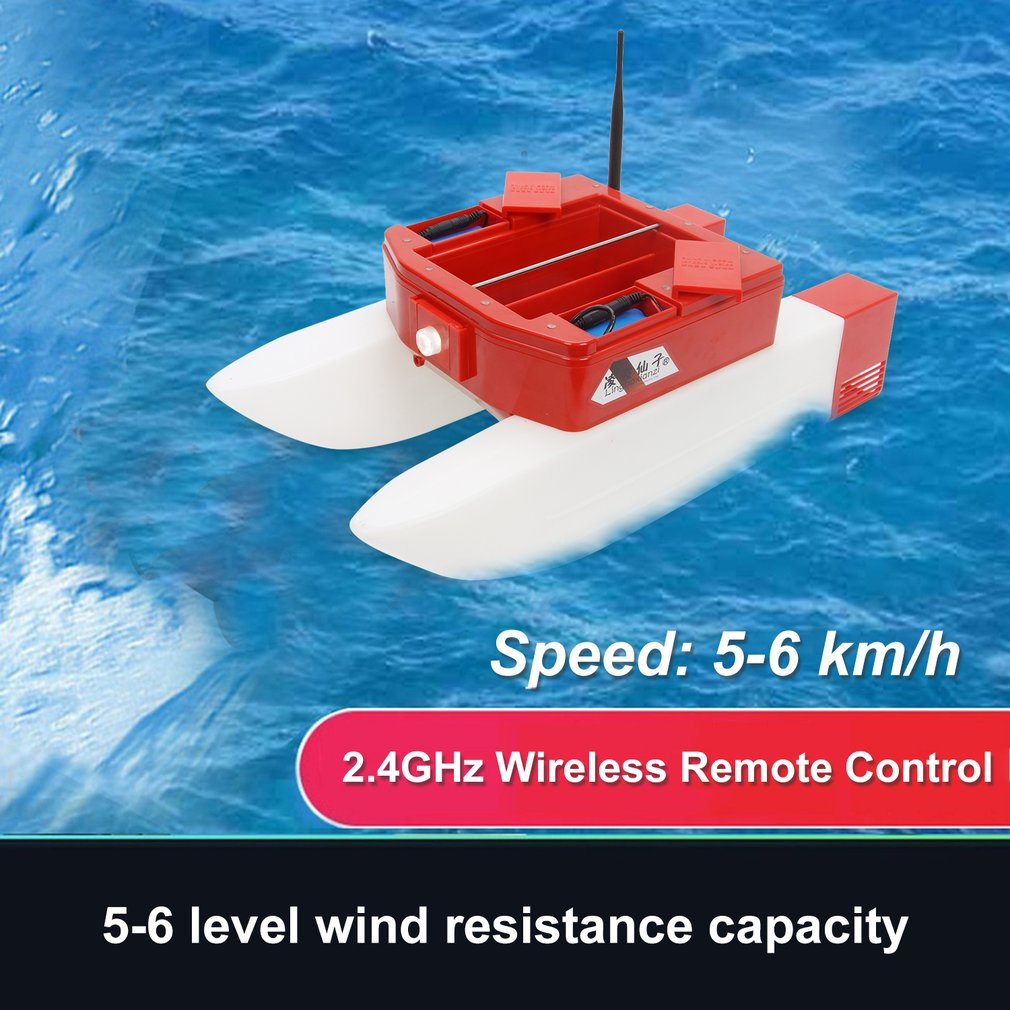 T168 RC Boat Intelligent Wireless Electric Fishing Bait Remote Control High Speed Boat Dual Warehouse Boat Toy Gifts For Kids image