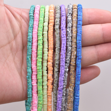 4mm Two color Polymer Clay Beads Chip Disk Loose Spacer Beads Flat Round For DIY Jewelry Making Bracelet Finding Fimo Slices borosa 10pcs rainbow handmade bracelets polymer clay beads fimo slices plastic thin disc elastic string bracelet jewelry hd0090