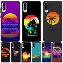 BaweiTE neo beauty coconut tree Black Soft Shell Phone Case Capa For Samsung A10 20 30 40 50 70 10S 20S 2 Core C8 A30S A50S beauty core