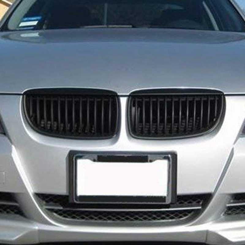 Fronte Hood Rene Griglia per BMW E90 323I 325Xi 330I 328I 328Xi 335I 335Xi Pre-Facelift (Singola Linea, nero lucido)
