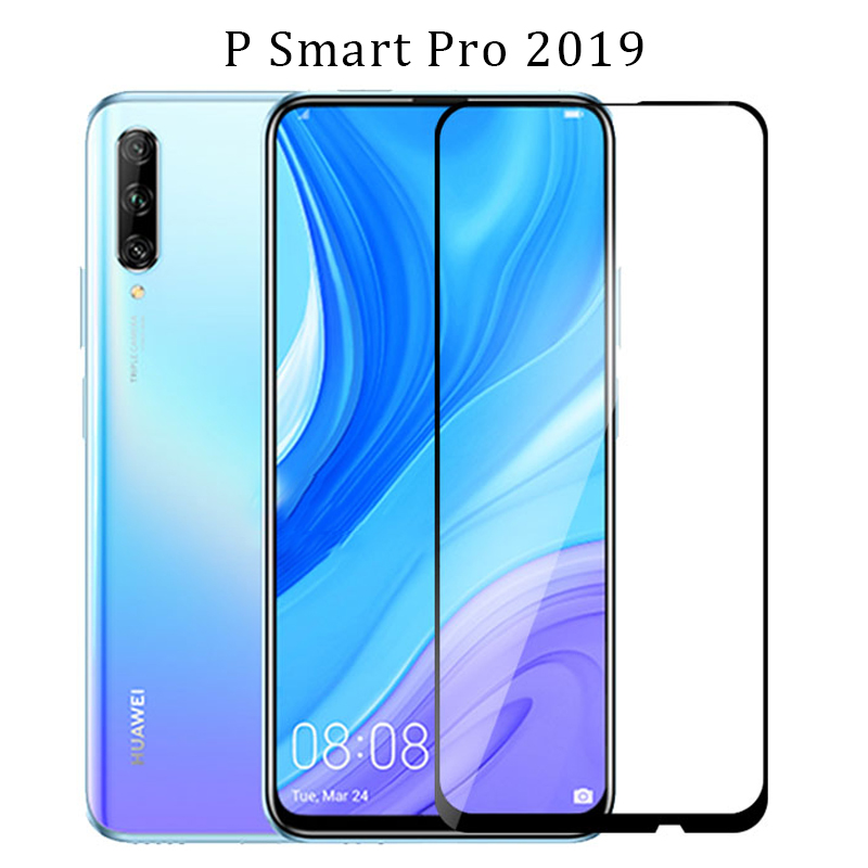 Tempered Glass For Huawei P Smart Pro 2019 Protective Glas On Psmart Smar Screen Protector Front Film 6.59 Original Huawey Huwei