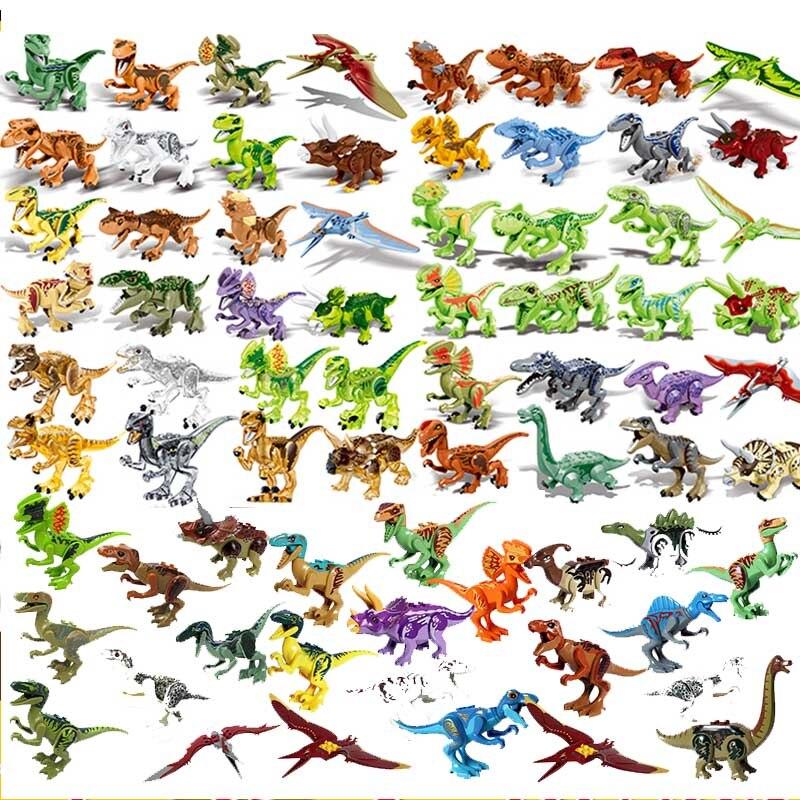 Locking Jurásico mundo de dinosaurios Parque dinosaurio Raptor zona de protección bloques de construcción conjunto de juguetes para niños Legoing Kit de animales