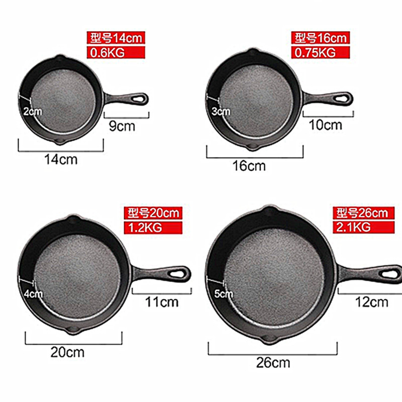 Cast Iron Pan Skillet Frying Pan Cast Iron Pot Best Heavy Duty Professional Seasoned Pan Cookware For Frying Saute Cooking