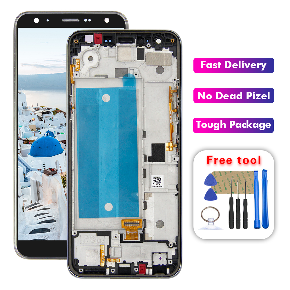 5.7'' For LG K40 LMX420 LCD Touch Screen Digitizer Replacement With Frame For LG X4 2019 /  K12 Plus LCD Display