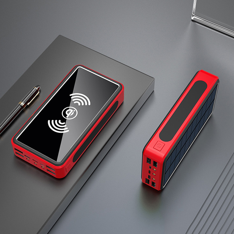 <font><b>Power</b></font> <font><b>Bank</b></font> <font><b>50000mAh</b></font> <font><b>Solar</b></font> Powerbank Portable Qi Wireless Charger For iPhone Samsung Xiaomi mi Mobile External Battery Poverbank image