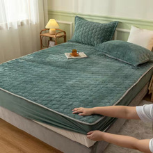Pillowcases Mattress-Cover QUILTED Bed-Sheets Cotton Velvet JUSTCHIC And Crystal Thicken