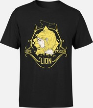 T-shirt Lion - Love signe zodiaque astrologie cadeau anniversaire tarot carte(China)