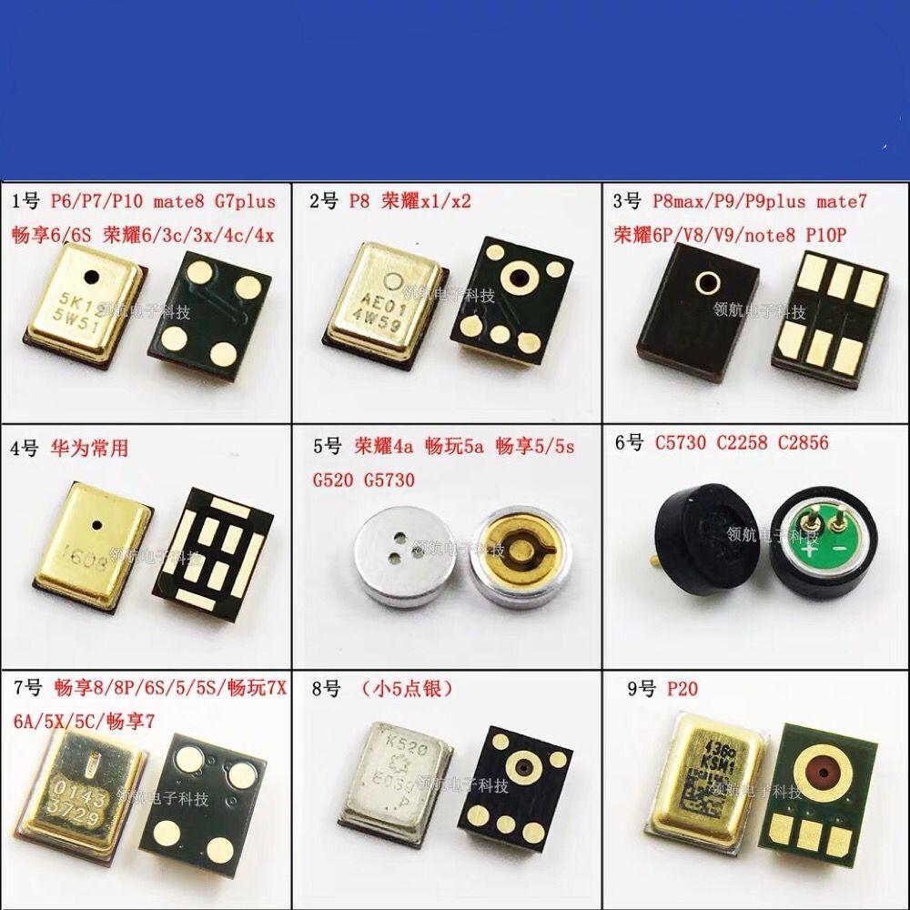 Honor X1X2 4A 9V Changxiang Mate8 G7PLUS P8 P9 P20 MIC Microphone 4/5/6PIN Knowles Motherboard Spare Part Loudspeaker Digital