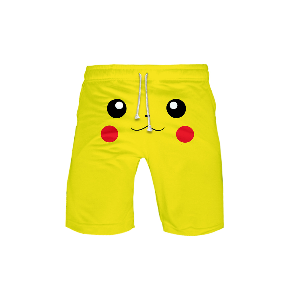 Pokemon High Quality Beach Mens <font><b>Shorts</b></font> Surf <font><b>Board</b></font> <font><b>Shorts</b></font> Summer Beach Entertainment Sport Quick Dry Boardshorts plus size <font><b>6XL</b></font> image