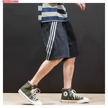 Dropshipping Men Unisex Striped Shorts Mens 2020 Knee Length