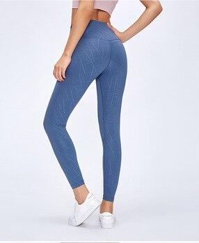 Super Soft Naked-Feel Hip Up Printing Yoga Fitness Pants Women Pocket Sport Tights Anti-sweat High Waist Gym Athletic Leggings