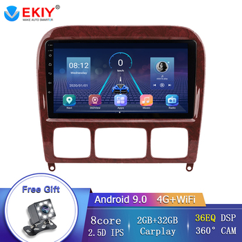 EKIY Android 9.0 Car GPS Radio Navigation 2 DIN For Mercedes Benz 1998-2005 S Class W220 S280 S320 S350 S400 S430 S500 S600 AMG image