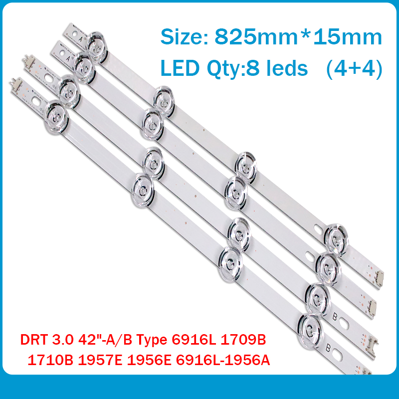 8 PCS(4*A,4*B) LED Strips Substituted New For LG INNOTEK DRT 3.0 42