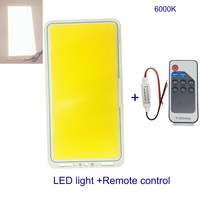 Upgraded Remote Control LED Panel Light with Dimmer 200W Dimmable 12V LED COB Lamp Matrix Plate Board Indoor Outdoor Lighting