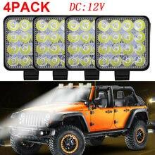 16LED Work Light Bar Plastic Shell Worklight Spotlight Lamp Off Road Vehicles LED Work Car Light For Ford Toyota SUV DC12/24V(China)