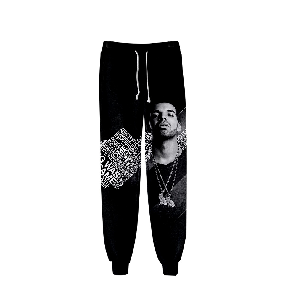 Drake And Rihanna High Quality Brand Men Pants Fitness Casual Elastic Pants Bodybuilding Sweatpants Dance-pop Joggers Pants