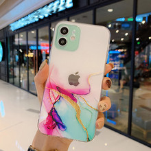Watercolor Painting Phone Case For iPhone 12 Pro 11 Pro Max X XR XS Max 7 8 6s Plus SE 2020 Clear Shockproof Soft TPU Back Cover