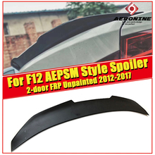 Fits For BMW F12 M6 rear Trunk spoiler wing FRP Unpainted PSM style 6 series 2-door 640i 650i 650iGC 2012-2017