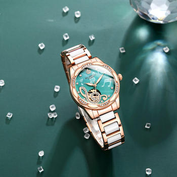 2021 New Designer Mechanical Watches Women Luxury Top Brand Ceramic Stainless Steel Diamond Music Ladies Automatic Wristwatches 4