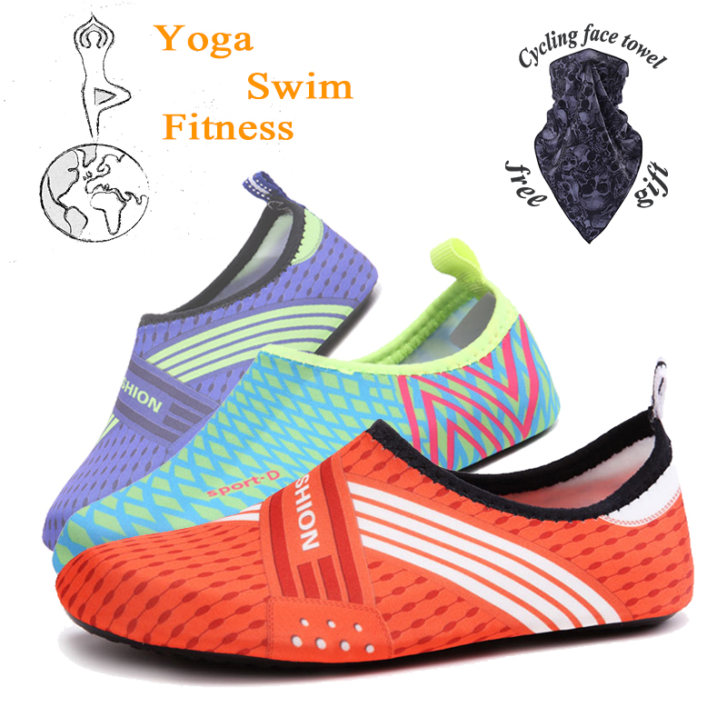 2021 Summer New Women's Yoga Shoes, Portable Tight Shoes, Men's Wading Shoes, Beach Shoes, Couple Quick-Drying Beach Shoes.