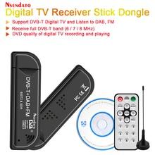 USB2.0 DAB FM-радио DVB-T RTL2832U R820T2 RTL SDR TV Stick Dongle цифровой USB TV HD ТВ-тюнер приемник ИК-пульт дистанционного управления с антенной