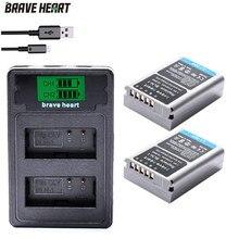 Batería BLN1 BLN 1 + cargador usb dual PS BLN1 para Olympus TYPE C, OM D, Mark II, E M1, EM1, EM5, PENF, EP5, E M5, 2 uds.