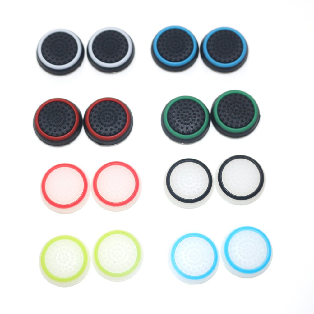 16PCS Double Rocker Enhanced Raised Silicone Rubber Analog Stick Thumb Grips Joystick Cover Caps For Playstation 4 PS4 Xbox One