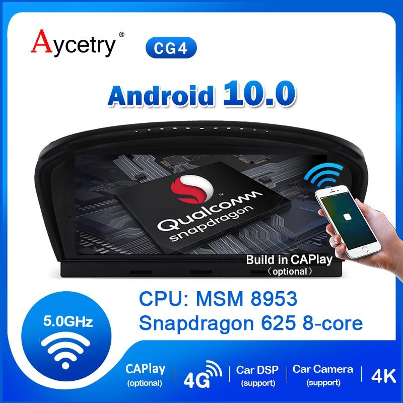 Для BMW E60 E62 E90 E92 автомобильный радиоприемник 2 din Android 10 устройство, док-станция Qualcomm 8-ядерный 4 аппарат не привязан к оператору сотовой связи м...