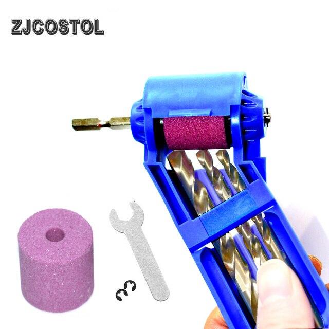 ZJCOSTOL Corundum Grinding Wheel Drill Bit Sharpener 2-12.5mm Portable Drill Bit Sharpener Drill Titanium