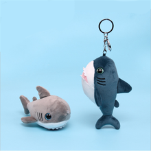 Cartoon cute shark doll plush toy key ring pendant shark baby key ring pendant shark plush pendant accessories children's toys fxm new 12cm cute little yellow duck plush key ring creative anime bag pendant plush key ring children cartoon plush toys