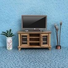 1:12 casa de muñecas TV Control remoto simulación muebles en miniatura casa de muñecas sala de estar decoración televisión