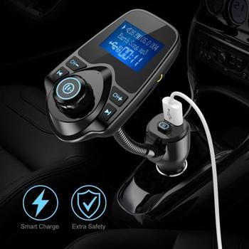 2019 Multifunction KM18 PLUS Car Kit Wireless Bluetooth Transmitter Player Radio Car Auto FM Adapter Charger Radio MP3 Vint F7S7 image