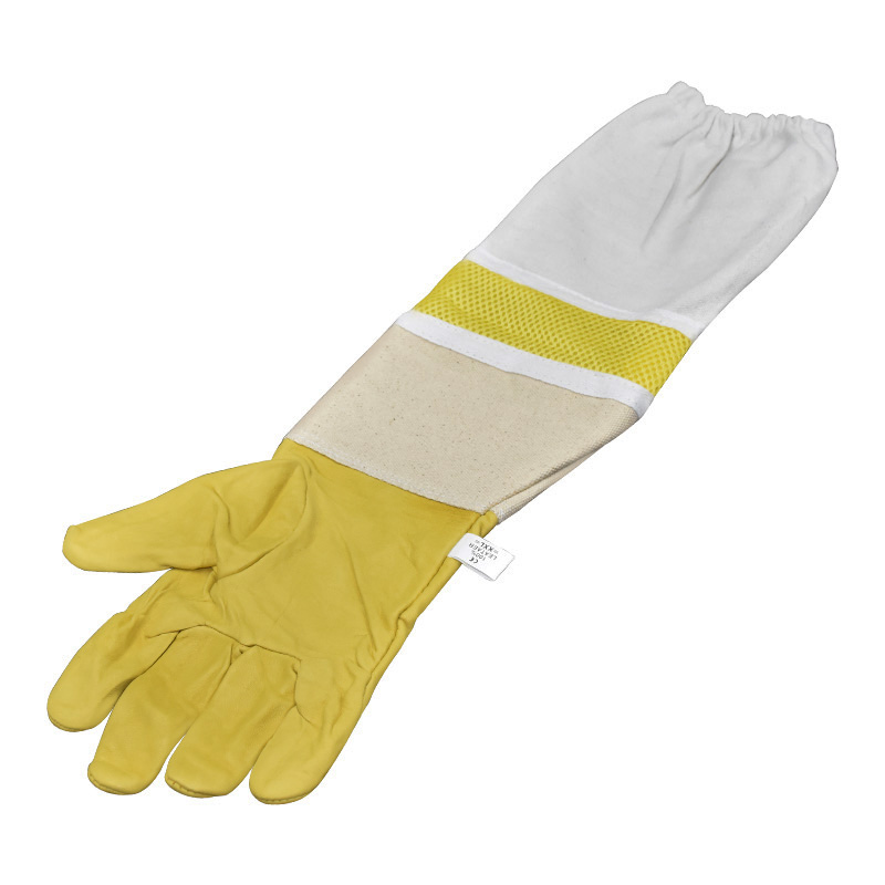 50cm Protective Beekeeping Bee Keeping Vented Long Sleeves Gloves Goatskin ty