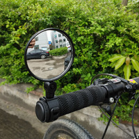 1pc Bike Mirror Adjustable Bicycle Mirror Flexible Handlebar Mirror Rear View Mirror Bike Accessories Bisiklet Aksesuar|Bike Mirrors| |  -