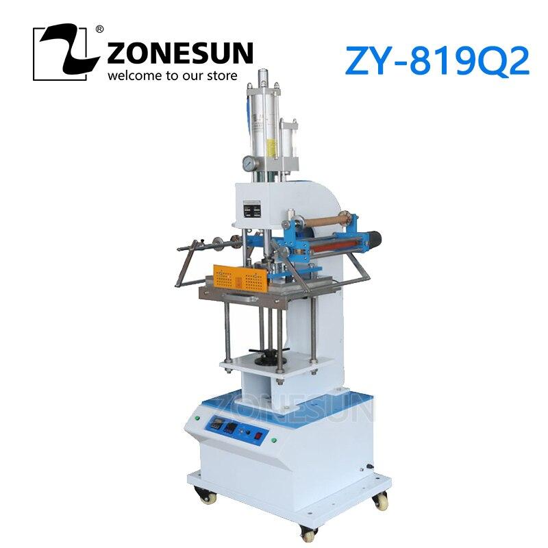 ZONESUN ZY 819Q2 Semi автоматическая кожаный машина для горячего тиснения фольгой печати под давлением и температурой, Пресс машина