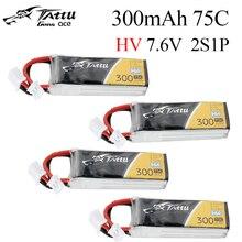 Pack de batterie Tattu 300mAh 7.6V 75C 2S1P HV Lipo avec prise JST-PHR, pour Drone de course RC FPV quadrirotor, jouets, 4 pièces