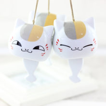 Japanese Creative Cute Handmade Ceramic Cartoon Cat Bell Pendant Fashion Sweet Girl Student Backpack Key Accessories Jewelry(China)