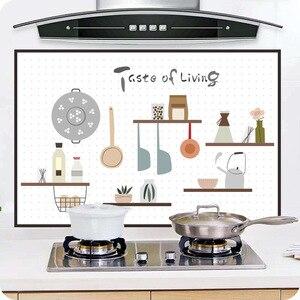 Самоклеящиеся маслостойкие наклейки для кухонной плиты с высокой термостойкостью, плитка для шкафа, капот, водонепроницаемые декоративные...