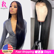 Wigs Lace-Frontal Human-Hair T-Part 28inch Indian RESHINE Preplucked Straight Women 13x4