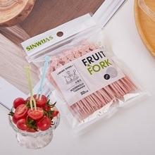 Fork-Set Plastic Salad-Fork Fruit-Sign Cake-Vegetable Disposable Household Personality