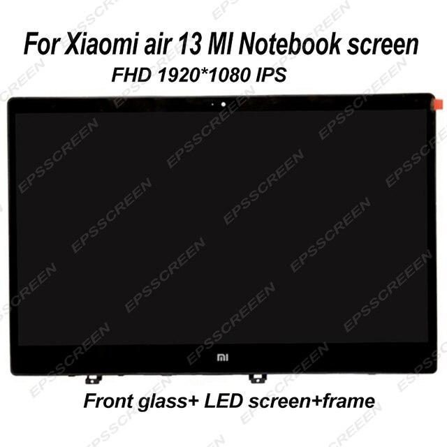 シャオ mi mi ノートブック空気 ips LQ133M1JW15 N133HCE GP1 LTN133HL09 13.3 「 lcd led スクリーン表示マトリックスガラスアセンブリ薄型フレーム