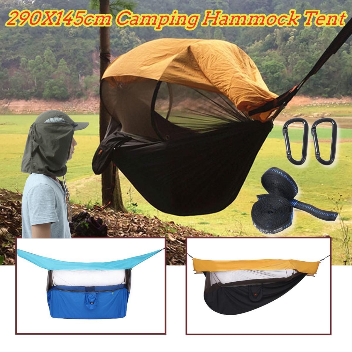 Hamac de Camping en plein air Portable avec moustiquaire tente abri solaire lit suspendu voyage survie chasse lit de couchage meubles