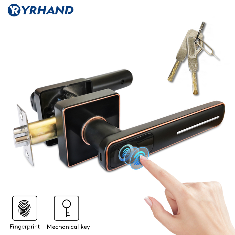 Biometric Fingerprint Door Lock  Intelligent Electronic Lock  Smart Door Lock With Mechanical Key For Home And Office Security